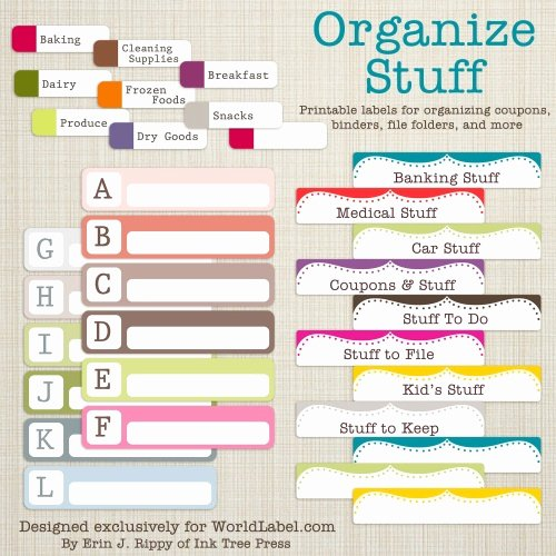 Free Printable File Folder Labels Fresh organizing Labels for More Stuff