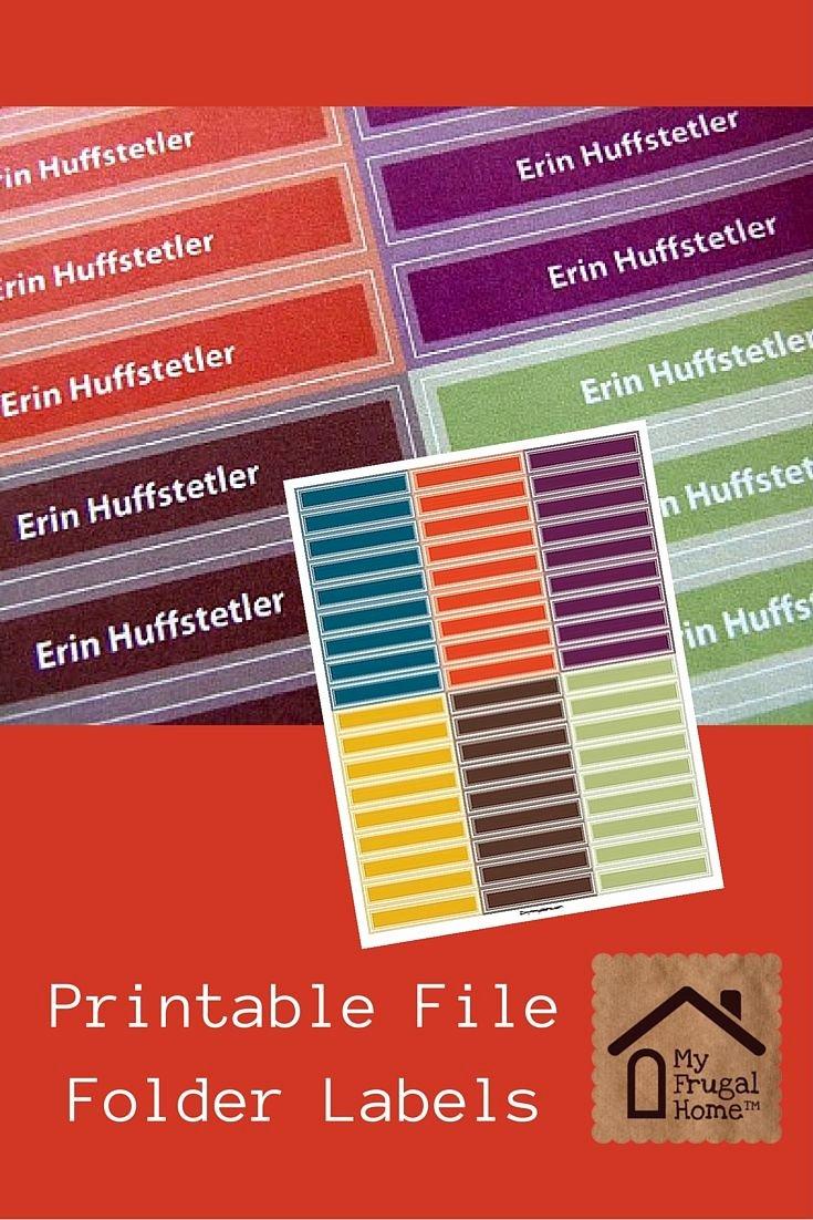 Free Printable File Folder Labels Inspirational Best 25 File Folder Labels Ideas On Pinterest