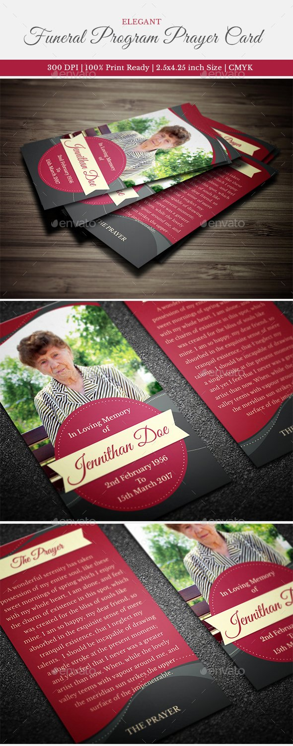 Free Printable Funeral Prayer Card Template Awesome Elegant Funeral Prayer Card Template by Creativesource
