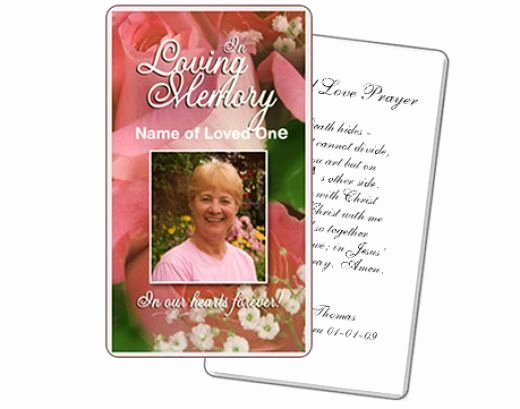 Free Printable Funeral Prayer Card Template Elegant A Customizable Funeral Prayer Card Template Created by the
