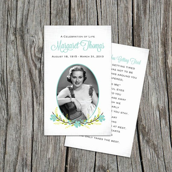 Free Printable Funeral Prayer Card Template Elegant Blank Funeral Prayer Card Template