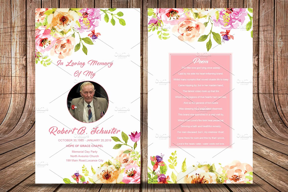Free Printable Funeral Prayer Card Template Fresh Funeral Prayer Card Template Card Templates Creative