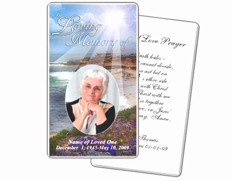 Free Printable Funeral Prayer Card Template Inspirational Best 25 Funeral Prayers Ideas On Pinterest