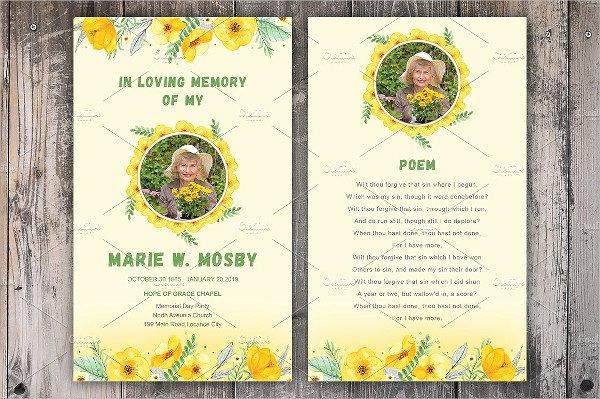 Free Printable Funeral Prayer Card Template Lovely Funeral Prayer Card Template 21 Psd Ai Eps format