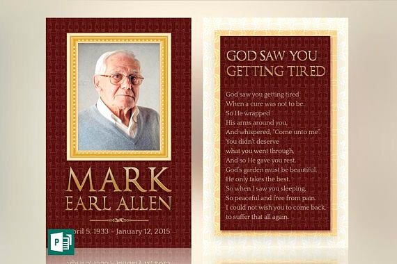 Free Printable Funeral Prayer Card Template Lovely Legacy Memorial Prayer Card Word Publisher Template