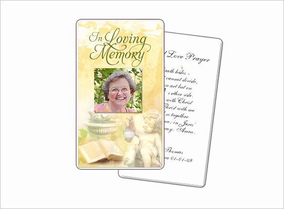 Free Printable Funeral Prayer Card Template Luxury 16 Obituary Card Templates Free Printable Word Excel
