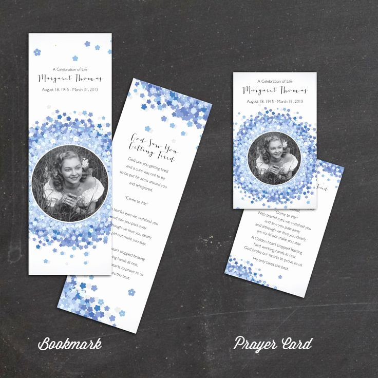 Free Printable Funeral Prayer Card Template New for Me Not Flowers Prayer Card Memorial Card Funeral