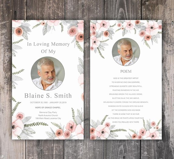 Free Printable Funeral Prayer Card Template Unique Funeral Prayer Card Template Editable Ms Word & Shop