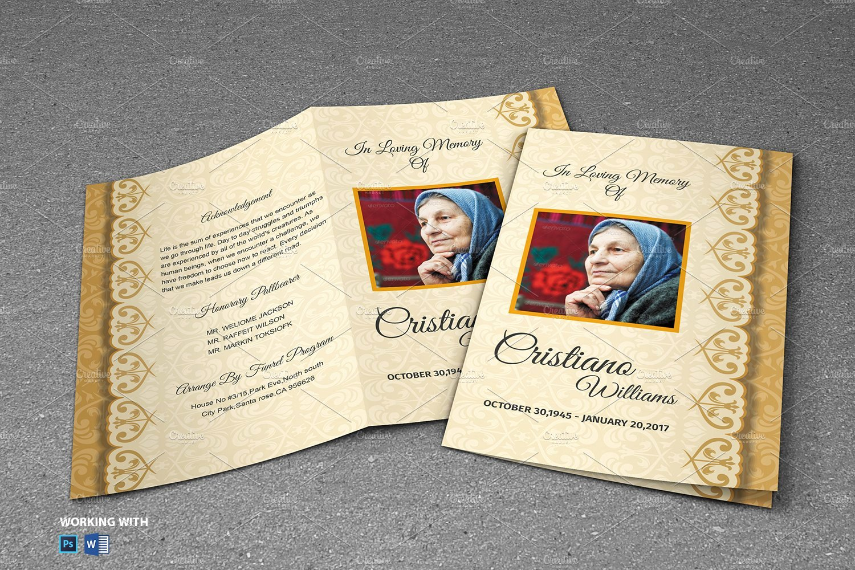 Free Printable Funeral Prayer Card Template Unique Memorial Funeral Program Template Brochure Templates