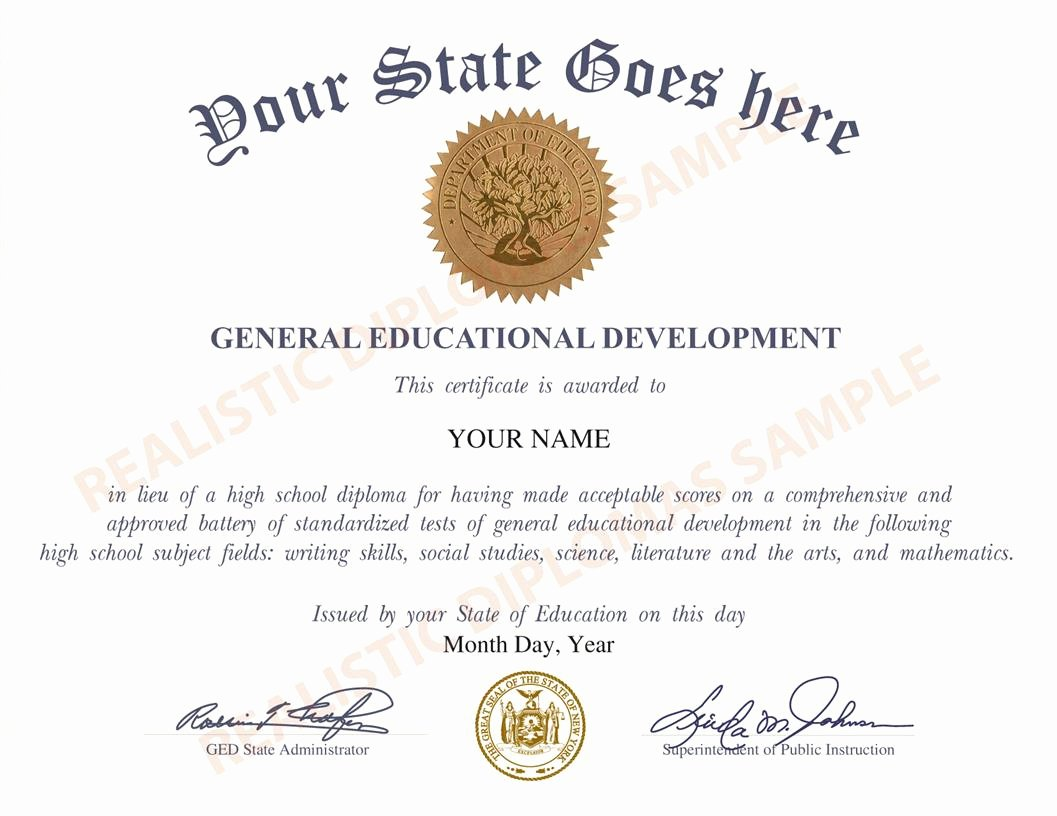 Free Printable Ged Certificate Elegant Fake Ged and High School Equivalency Diplomas Realistic