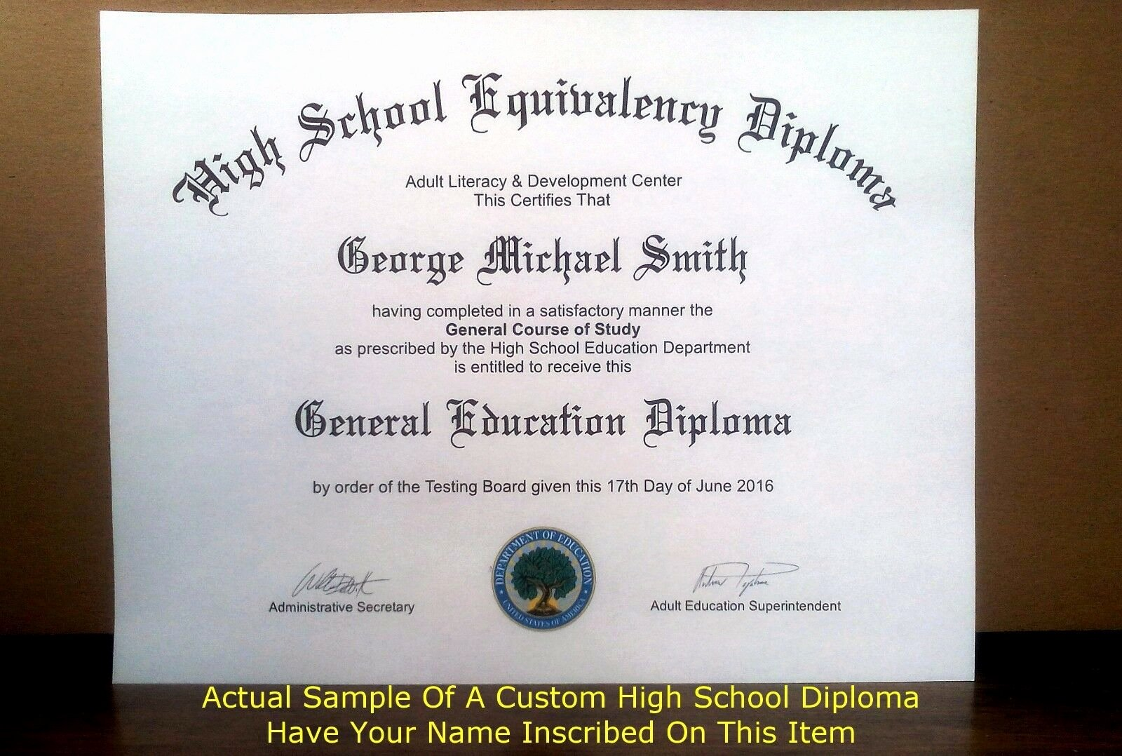 Free Printable Ged Certificate Unique Fake Ged High School Diploma $39 95