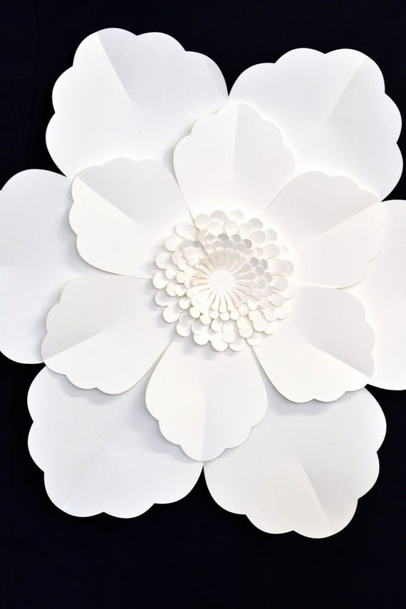 Free Printable Giant Flower Template Beautiful Giant 2 Ft Paper Flower for Wedding Decoration