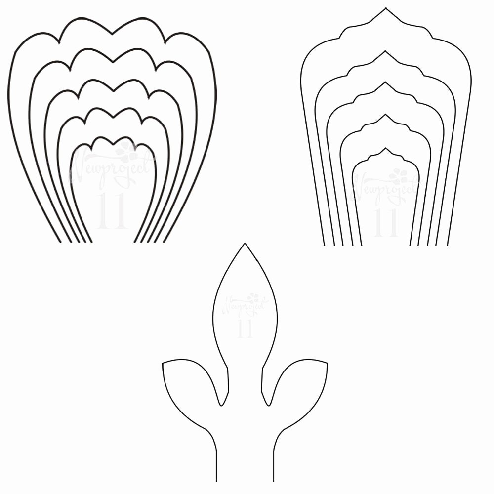 Free Printable Giant Flower Template Beautiful Pdf Set Of 2 Flower Templates and 1 Leaf Template Giant