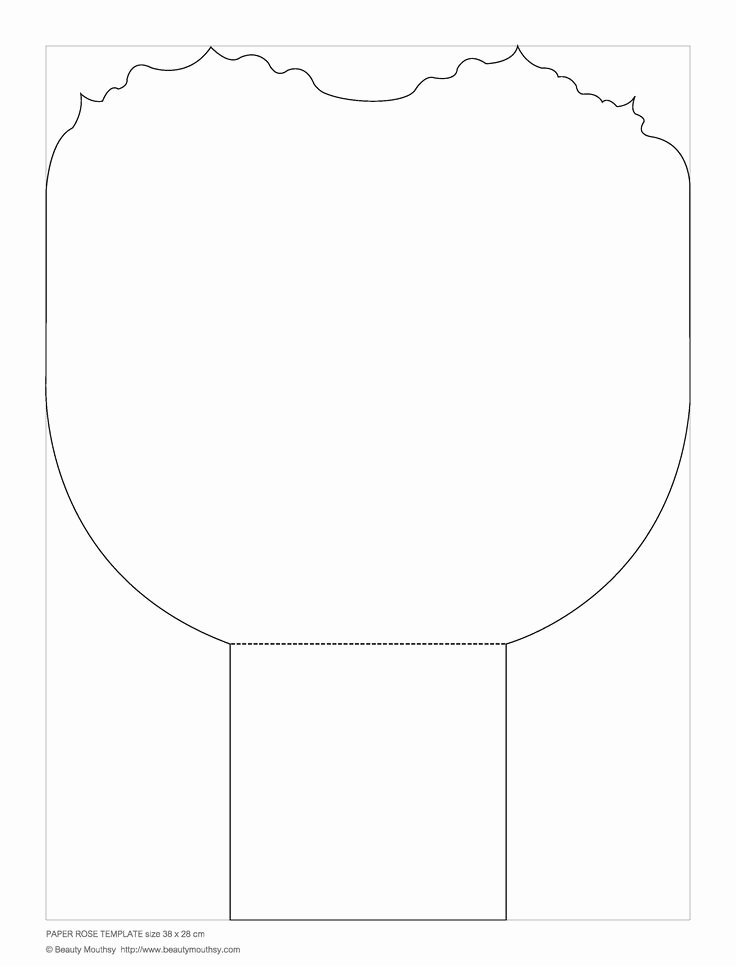 Free Printable Giant Flower Template Beautiful Petal Template Of Giant Paper Rose