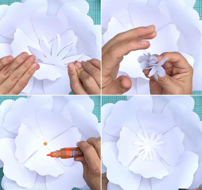 Free Printable Giant Flower Template Elegant How to Make Giant Paper Roses Plus A Free Petal Template