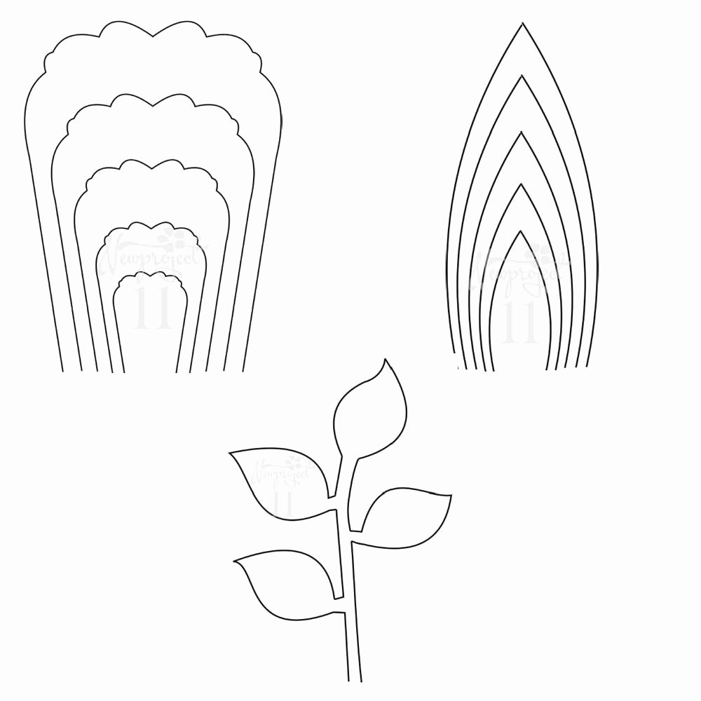 Free Printable Giant Flower Template Fresh Pdf Set Of 2 Flower Templates and 1 Leaf Template Giant