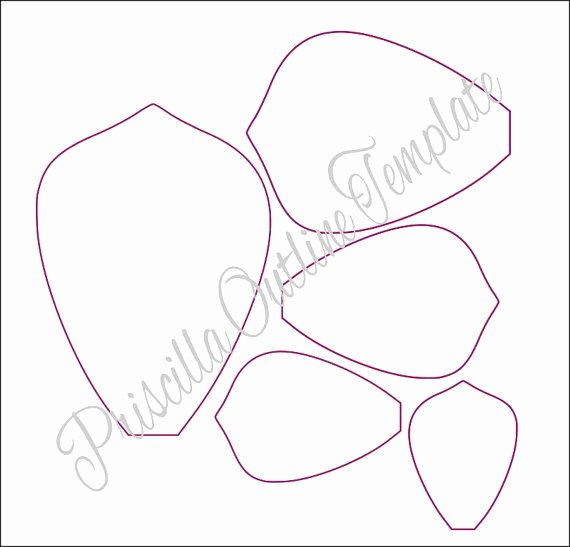 Free Printable Giant Flower Template Inspirational Easy Paper Flowers Diy Giant Flower Templates