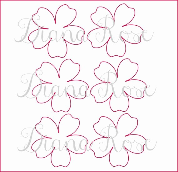 Free Printable Giant Flower Template Unique Printable Paper Rose Templates Diy Paper Flowers Printable