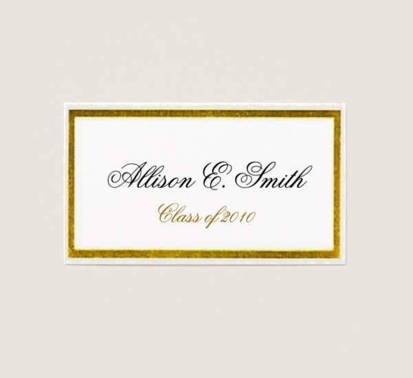 Free Printable Graduation Name Cards Inspirational 22 Name Card Templates