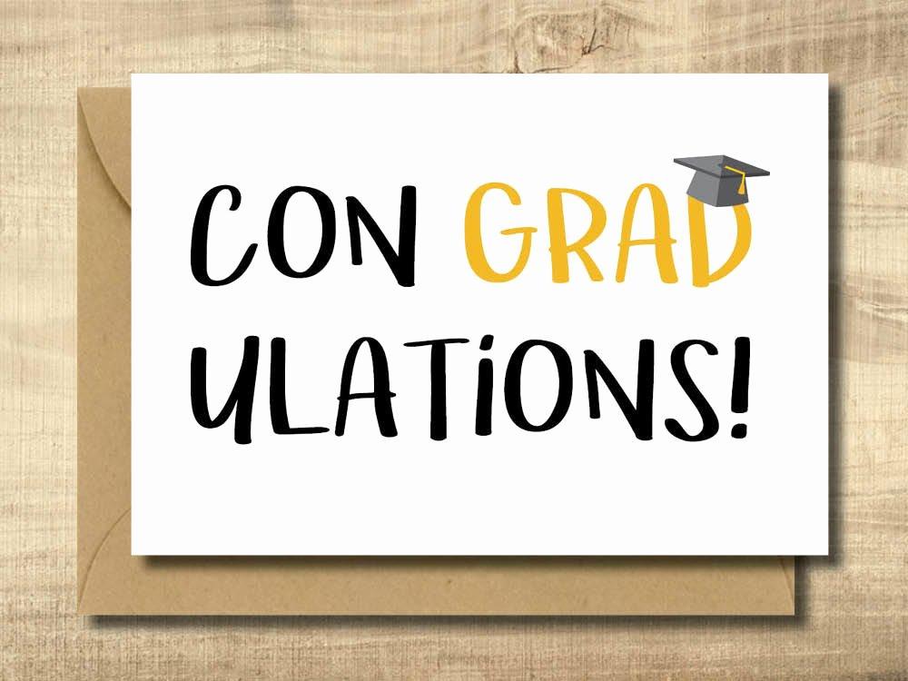 Free Printable Graduation Name Cards Inspirational Printable Graduation Card Make Your Own Cards at Home