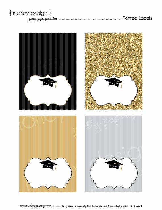 Free Printable Graduation Name Cards Luxury Graduation Party Buffet Cards Printable Tented Labels Food