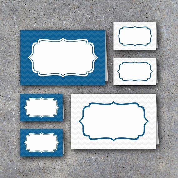 Free Printable Graduation Name Cards New Graduation Tent Cards In Blue and White – Instant Download