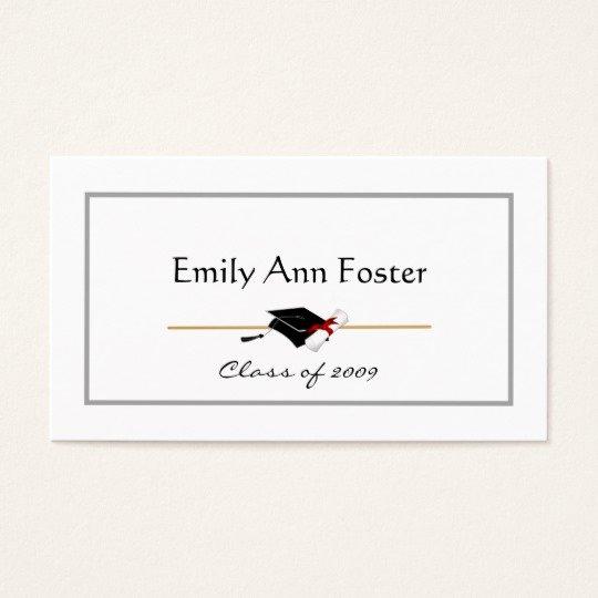 Free Printable Graduation Name Cards Unique Personalized Graduation Name Cards