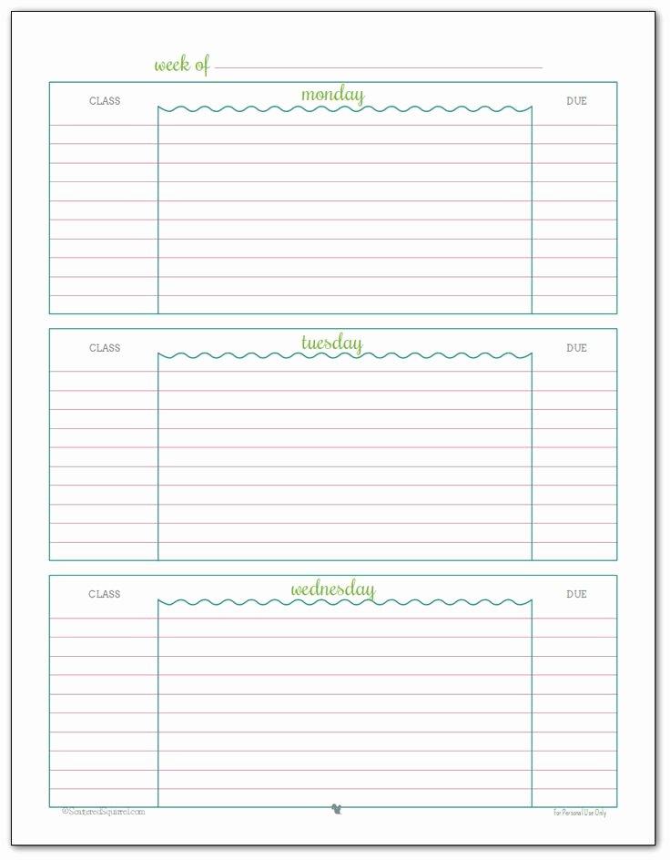 Free Printable Homework Planner Beautiful Best 25 Homework Planner Printable Ideas On Pinterest