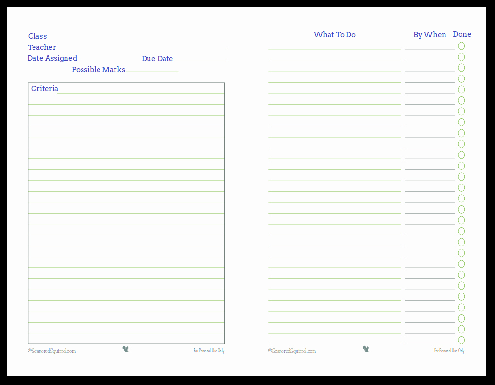 Free Printable Homework Planner Best Of Getting Ready for Back to School Student Planner Printables