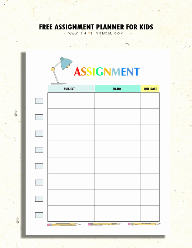 Free Printable Homework Planner Luxury 200 Free Amazing Student organization Printables