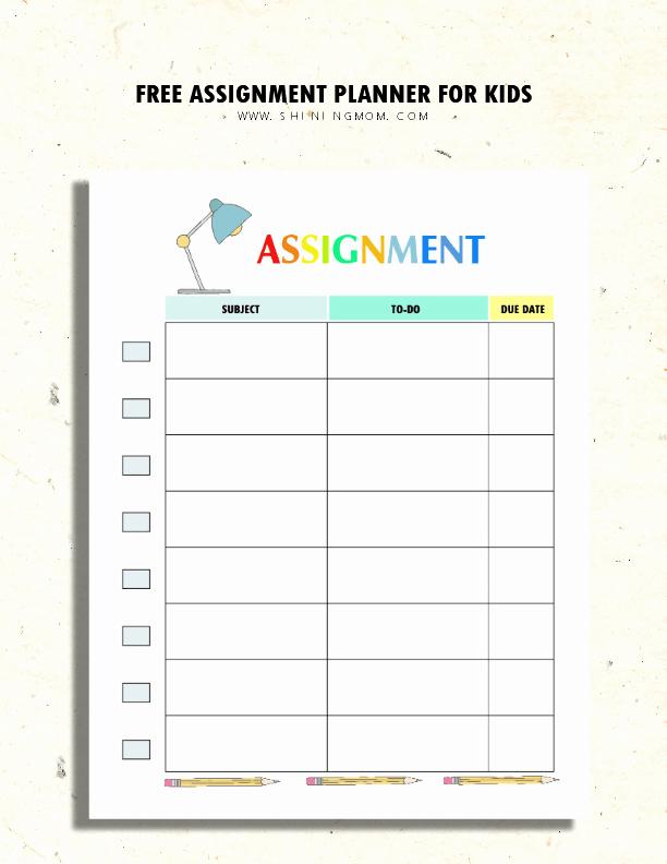 Free Printable Homework Planner Luxury 200 Free Amazing Student organization Printables