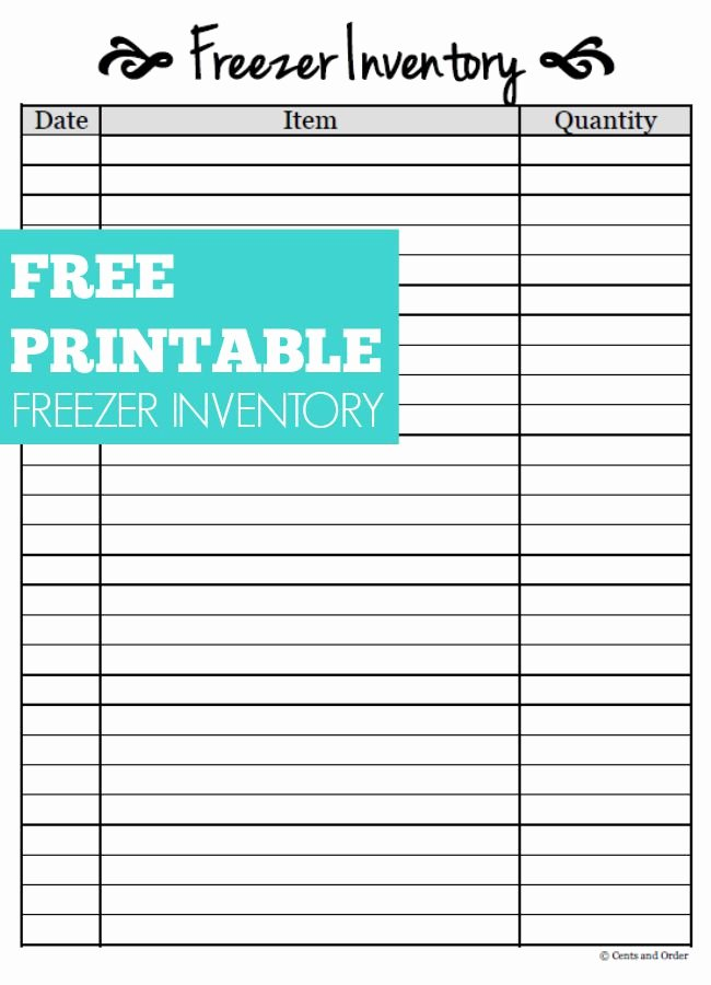 Free Printable Inventory Sheets Inspirational Free Printable Freezer Inventory Sheet