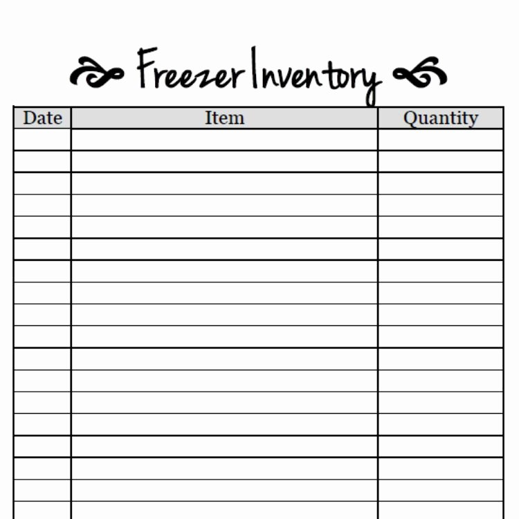 Free Printable Inventory Sheets Luxury Free Printable Freezer Inventory Sheet