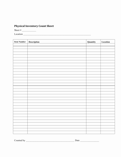 Free Printable Inventory Sheets Pdf Beautiful Download Inventory Checklist Template Excel Pdf