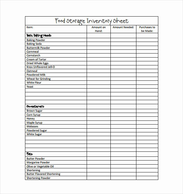 Free Printable Inventory Sheets Pdf Elegant Inventory Template – 25 Free Word Excel Pdf Documents