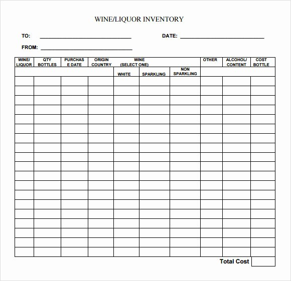 Free Printable Inventory Sheets Pdf Lovely Liquor Inventory Template 8 Download Free Documents In