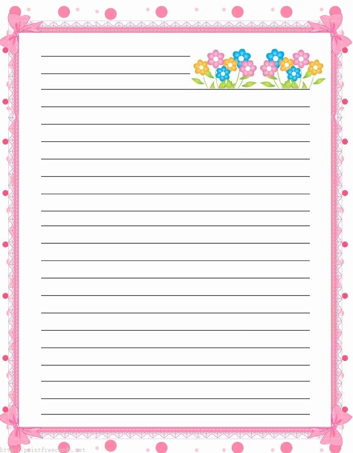 Free Printable Lined Stationery Beautiful Free Lined Handwriting Paper with Border