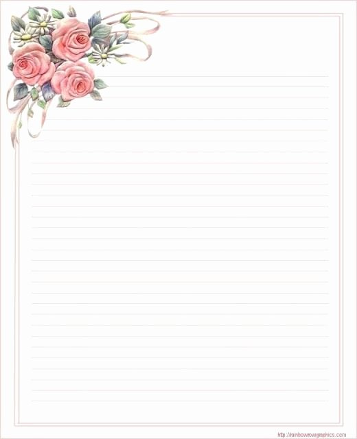 Free Printable Lined Stationery Elegant Lined Stationery