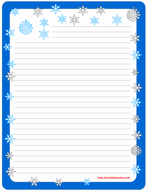 Free Printable Lined Stationery Fresh Free Winter Writing Paper