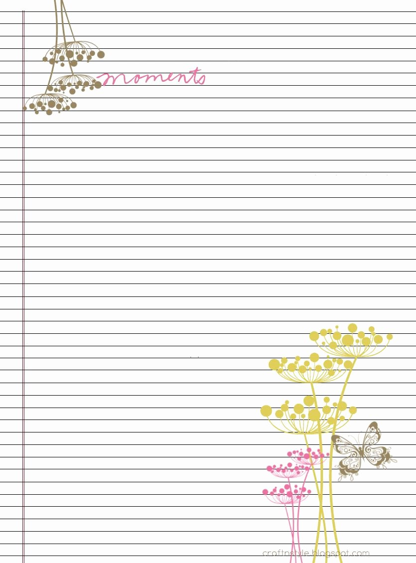 Free Printable Lined Stationery Lovely Rina Loves Free Printable Stationary