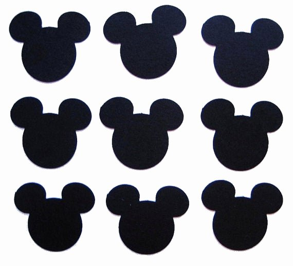 Free Printable Mickey Mouse Cutouts Beautiful 100 Black Mickey Mouse Punch Cut Cutout by Belowblink