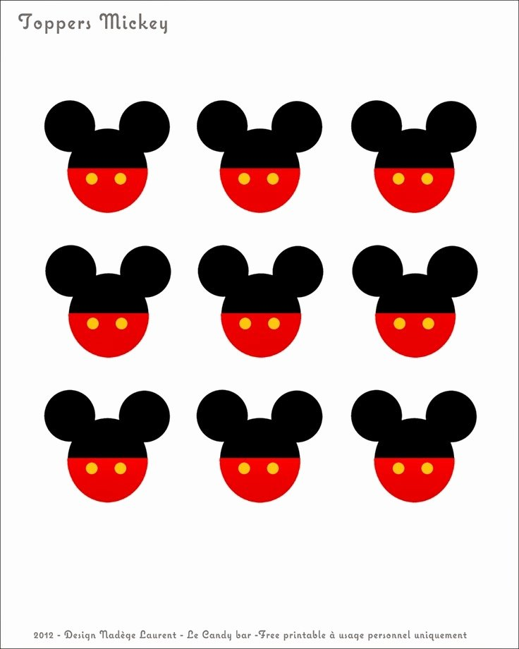 Free Printable Mickey Mouse Cutouts Best Of Jovem Mãe Inspirações Festa Mickey Para Imprimir♥