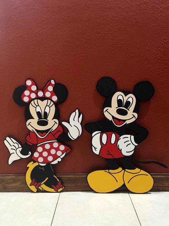 Free Printable Mickey Mouse Cutouts Best Of Wooden Set Of Mickey and Minnie Mouse Cutouts Mickey