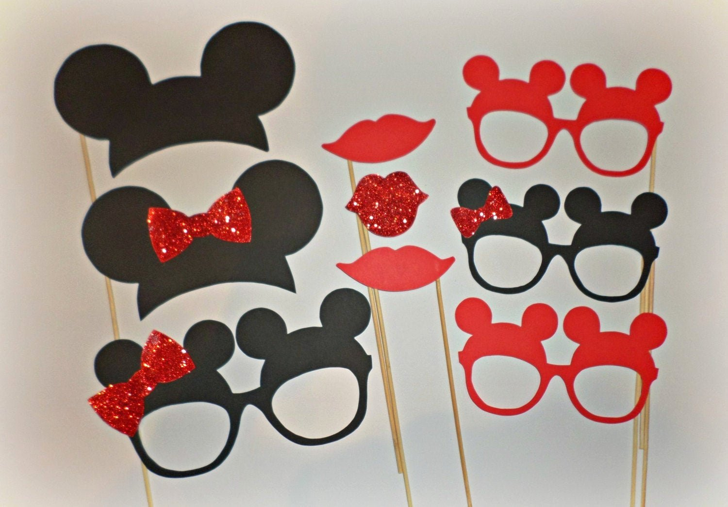 Free Printable Mickey Mouse Cutouts Elegant Red Minnie Mouse Photo Booth Props Minnie Ears Mickey Mouse