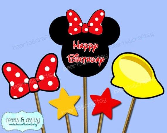 Free Printable Mickey Mouse Cutouts Fresh Minnie Mouse Centerpiece Cutouts Minnie Mouse Party Cake