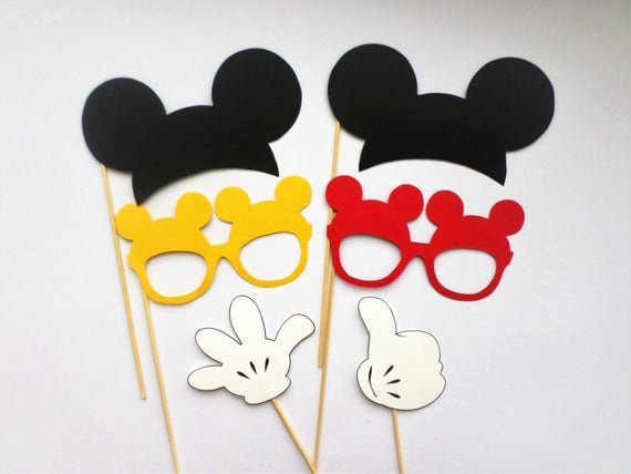 Free Printable Mickey Mouse Cutouts Inspirational Items Similar to Booth Props Mickey Mouse Photo