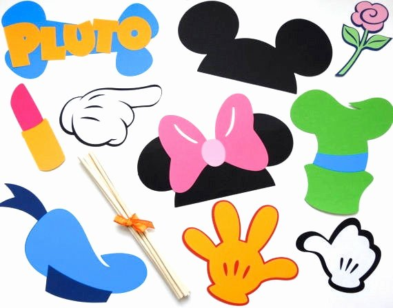 Free Printable Mickey Mouse Cutouts Lovely 10 Piece Booth Prop Mickey Mouse Disney Minnie Mouse