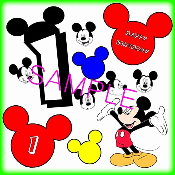 Free Printable Mickey Mouse Cutouts Lovely Digital Download Mickey Mouse 1st Birthday Cut Outs Print