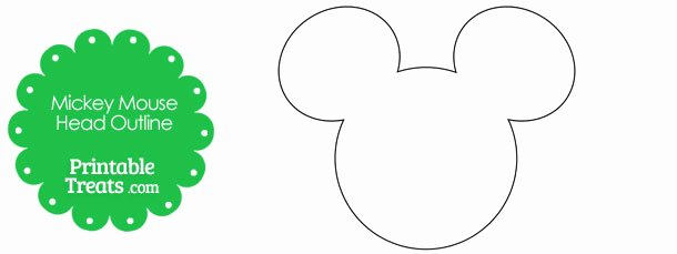 Free Printable Mickey Mouse Cutouts Luxury Printable Mickey Mouse Head Outline — Printable Treats