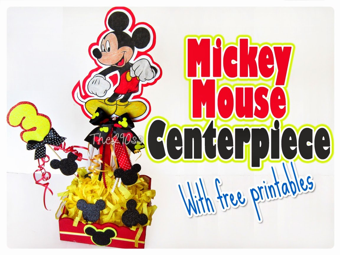 Free Printable Mickey Mouse Cutouts Luxury the290ss Mickey Mouse Centerpiece with Free Printables